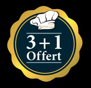 Offre 3 + 1 : achetez 3 produits et repartez avec 4